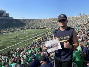 Aaron H attended Notre Dame Fighting Irish vs. Purdue Boilermakers - NCAA Football on Sep 18th 2021 via VetTix