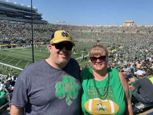 jtaylor227 attended Notre Dame Fighting Irish vs. Purdue Boilermakers - NCAA Football on Sep 18th 2021 via VetTix