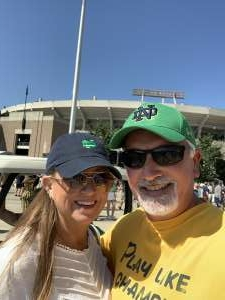 Ron  attended Notre Dame Fighting Irish vs. Purdue Boilermakers - NCAA Football on Sep 18th 2021 via VetTix