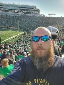 Jimmy attended Notre Dame Fighting Irish vs. Purdue Boilermakers - NCAA Football on Sep 18th 2021 via VetTix