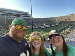 Jeff attended Notre Dame Fighting Irish vs. Purdue Boilermakers - NCAA Football on Sep 18th 2021 via VetTix