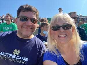Stephen S attended Notre Dame Fighting Irish vs. Purdue Boilermakers - NCAA Football on Sep 18th 2021 via VetTix