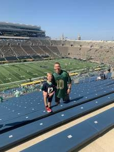 Joel Smith attended Notre Dame Fighting Irish vs. Purdue Boilermakers - NCAA Football on Sep 18th 2021 via VetTix