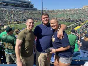 John attended Notre Dame Fighting Irish vs. Purdue Boilermakers - NCAA Football on Sep 18th 2021 via VetTix
