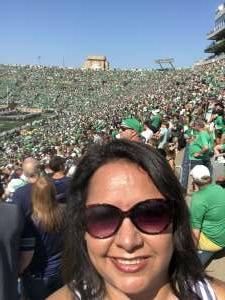 Leslie attended Notre Dame Fighting Irish vs. Purdue Boilermakers - NCAA Football on Sep 18th 2021 via VetTix