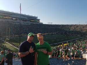 Gary smith attended Notre Dame Fighting Irish vs. Purdue Boilermakers - NCAA Football on Sep 18th 2021 via VetTix