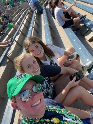 Thankful Vet attended Notre Dame Fighting Irish vs. Purdue Boilermakers - NCAA Football on Sep 18th 2021 via VetTix