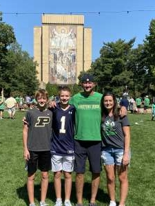 Nate Fisher attended Notre Dame Fighting Irish vs. Purdue Boilermakers - NCAA Football on Sep 18th 2021 via VetTix