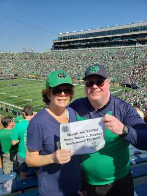 Christopher Henning attended Notre Dame Fighting Irish vs. Purdue Boilermakers - NCAA Football on Sep 18th 2021 via VetTix