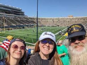M Berkshire attended Notre Dame Fighting Irish vs. Purdue Boilermakers - NCAA Football on Sep 18th 2021 via VetTix