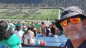 Jt Harrell attended Notre Dame Fighting Irish vs. Purdue Boilermakers - NCAA Football on Sep 18th 2021 via VetTix
