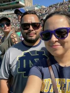 Enrique attended Notre Dame Fighting Irish vs. Purdue Boilermakers - NCAA Football on Sep 18th 2021 via VetTix
