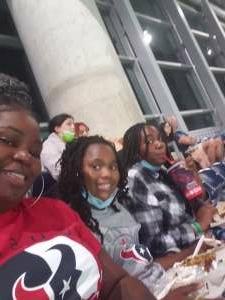 Tamesha  attended Houston Texans vs. Carolina Panthers - NFL on Sep 23rd 2021 via VetTix