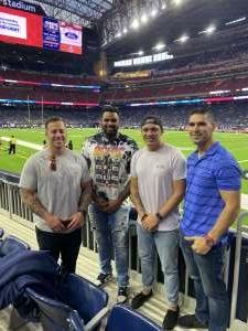 CM attended Houston Texans vs. Carolina Panthers - NFL on Sep 23rd 2021 via VetTix