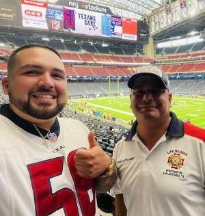 Mike USMC attended Houston Texans vs. Carolina Panthers - NFL on Sep 23rd 2021 via VetTix