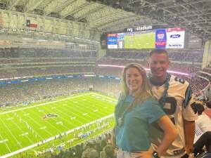 Jesse attended Houston Texans vs. Carolina Panthers - NFL on Sep 23rd 2021 via VetTix