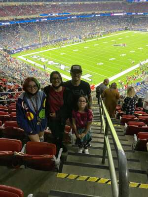 Lupe attended Houston Texans vs. Carolina Panthers - NFL on Sep 23rd 2021 via VetTix