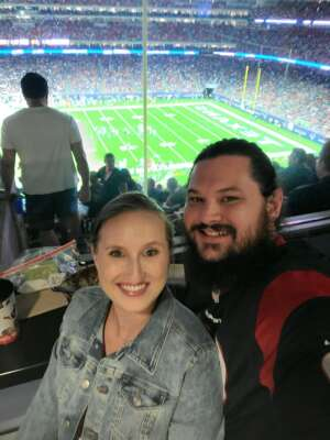 Smith attended Houston Texans vs. Carolina Panthers - NFL on Sep 23rd 2021 via VetTix