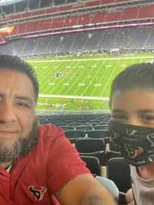 Alejandro attended Houston Texans vs. Carolina Panthers - NFL on Sep 23rd 2021 via VetTix