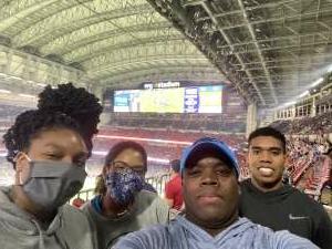 James attended Houston Texans vs. Carolina Panthers - NFL on Sep 23rd 2021 via VetTix