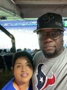 JPalmer attended Houston Texans vs. Carolina Panthers - NFL on Sep 23rd 2021 via VetTix