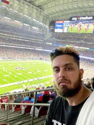 Rico attended Houston Texans vs. Carolina Panthers - NFL on Sep 23rd 2021 via VetTix