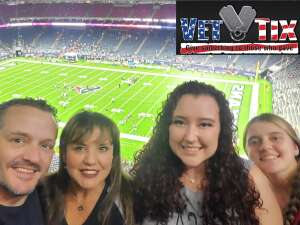 Scott Caine attended Houston Texans vs. Carolina Panthers - NFL on Sep 23rd 2021 via VetTix