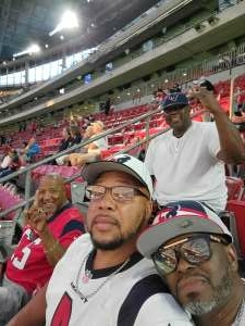 Otha Hayes attended Houston Texans vs. Carolina Panthers - NFL on Sep 23rd 2021 via VetTix