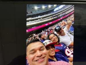 Albert Velazquez attended Houston Texans vs. Carolina Panthers - NFL on Sep 23rd 2021 via VetTix
