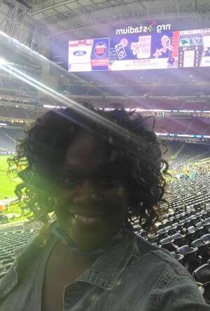 Erika B attended Houston Texans vs. Carolina Panthers - NFL on Sep 23rd 2021 via VetTix