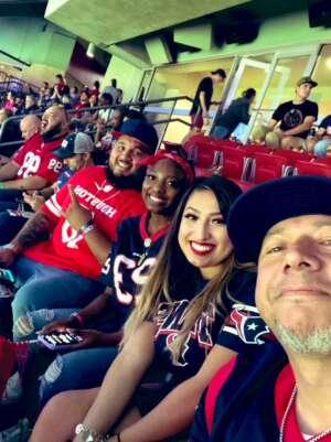 Junior attended Houston Texans vs. Carolina Panthers - NFL on Sep 23rd 2021 via VetTix