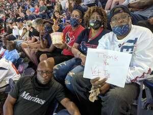 LaFonzo Prince attended Houston Texans vs. Carolina Panthers - NFL on Sep 23rd 2021 via VetTix