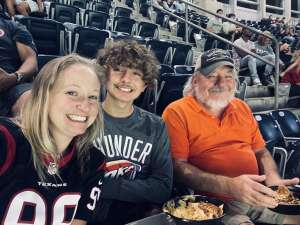 Ames attended Houston Texans vs. Carolina Panthers - NFL on Sep 23rd 2021 via VetTix