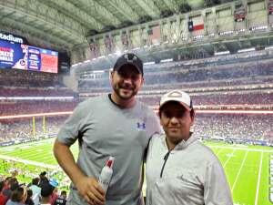 JM. Landa  attended Houston Texans vs. Carolina Panthers - NFL on Sep 23rd 2021 via VetTix