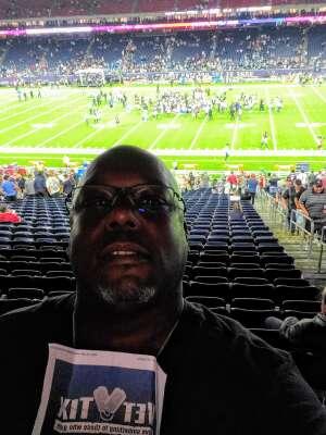 Kendall Juluke attended Houston Texans vs. Carolina Panthers - NFL on Sep 23rd 2021 via VetTix