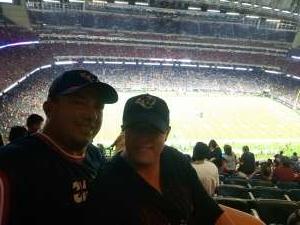 J. Conn attended Houston Texans vs. Carolina Panthers - NFL on Sep 23rd 2021 via VetTix