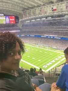 Sam attended Houston Texans vs. Carolina Panthers - NFL on Sep 23rd 2021 via VetTix