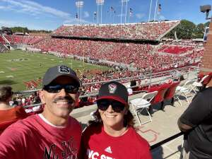 Jose & Amy attended NC State Wolfpack vs. Clemson Tigers - NCAA Football on Sep 25th 2021 via VetTix