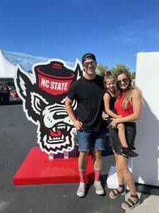 Gabby attended NC State Wolfpack vs. Clemson Tigers - NCAA Football on Sep 25th 2021 via VetTix