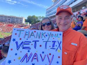Stephen attended NC State Wolfpack vs. Clemson Tigers - NCAA Football on Sep 25th 2021 via VetTix