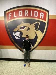 Oliva attended Florida Panthers vs. Tampa Bay Lightning - NHL Preseason on Oct 9th 2021 via VetTix