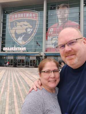 Matt attended Florida Panthers vs. Tampa Bay Lightning - NHL Preseason on Oct 9th 2021 via VetTix