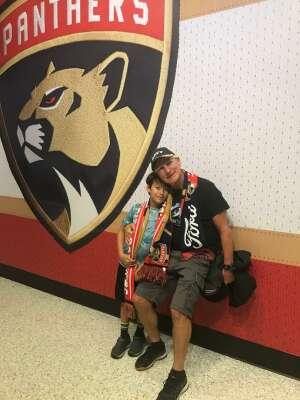 Patrick and Family attended Florida Panthers vs. Tampa Bay Lightning - NHL Preseason on Oct 9th 2021 via VetTix