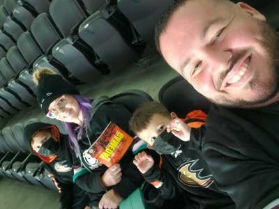Tipheny1784 attended Anaheim Ducks vs. Winnipeg Jets - Antis Community Corner on Oct 13th 2021 via VetTix