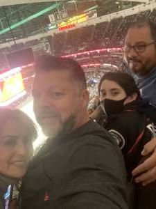 Joe Gutierrez USMC attended Anaheim Ducks vs. Winnipeg Jets - Antis Community Corner on Oct 13th 2021 via VetTix