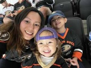 Vy attended Anaheim Ducks vs. Winnipeg Jets - Antis Community Corner on Oct 13th 2021 via VetTix