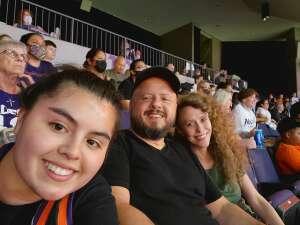 Dennis M.  attended WNBA Playoffs Round 1 Phoenix Mercury vs. New York Liberty on Sep 23rd 2021 via VetTix