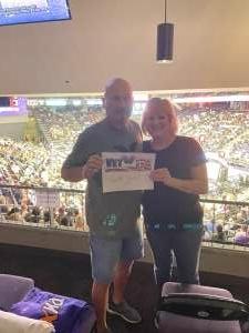 The Whites attended WNBA Playoffs Round 1 Phoenix Mercury vs. New York Liberty on Sep 23rd 2021 via VetTix