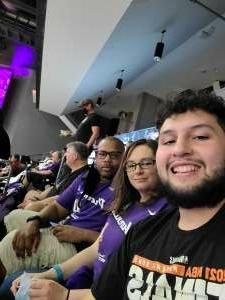 JW attended WNBA Playoffs Round 1 Phoenix Mercury vs. New York Liberty on Sep 23rd 2021 via VetTix