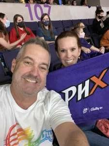 Watson attended WNBA Playoffs Round 1 Phoenix Mercury vs. New York Liberty on Sep 23rd 2021 via VetTix